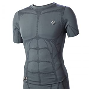 UFC Aim Short Sleeve Compression Top (Grey, 2X)