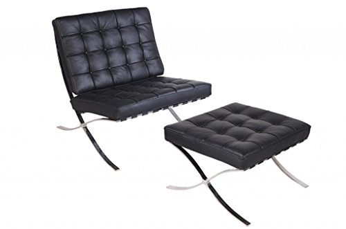 Mlf All Handicraft Knoll Barcelona Chair & Ottoman (3 Colors). Superior Craftsmanship. 100% Full Italian Leather, High Density Foam Cushions & Seamless Visible Corners. Polished Chrome Frame Riveted With Cowhide Saddle Straps. Superior Grade Stainless Ste