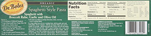 deboles organic spinach fettuccine