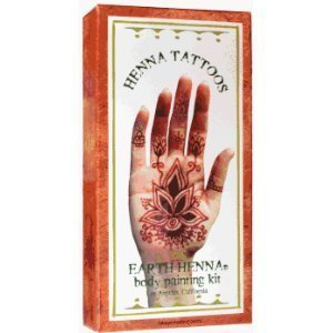 Earth Henna Henna Tattoos Body Painting Kit 1 Kit