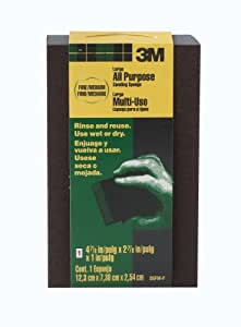 3M Large Area Sanding Sponge, 4.875-Inch by 2.875-Inch by 1-Inch