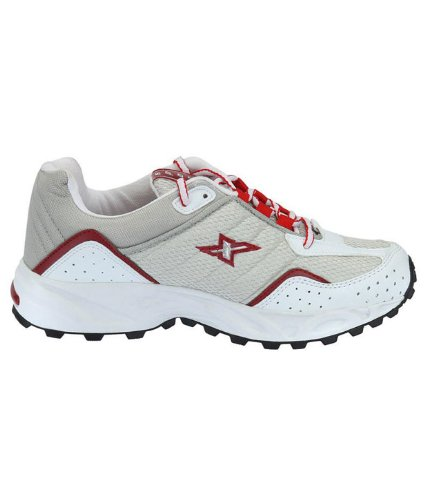 Sparx Mens Silver and Red Running Shoes - 10 UK (SM-04)
