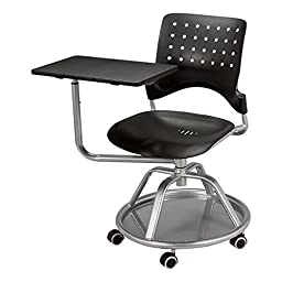 Norwood Commercial Furniture NOR-TSU3012SB-SO Mobile Tablet Arm Chair, 19\