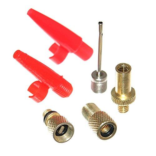 6er-Ventil-Adapter-Set-Fahrradventil-Blitzventil-Autoventil-Sclaverandventil-Ballpumpe-Luftmatratze-fr-Kompressor-Fahrradpumpe-SV-AV-DV-Neu-Otto-Harvest