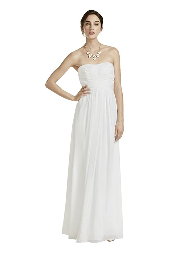 Chiffon Wedding Dress with Strapless Ruched Bodice Style INT15555