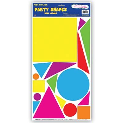 Party Shapes Peel 'N Place (circles, squares, triangles) Party Accessory  (1 count) (19/Sh)