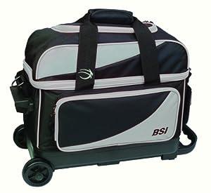 BSI Double Ball Roller Bowling Bag, Black/Grey