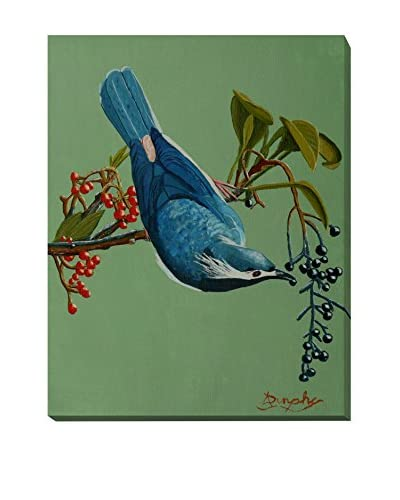 Anthony Dunphy Bluebirds Lunch Weather-Resistant Canvas Print