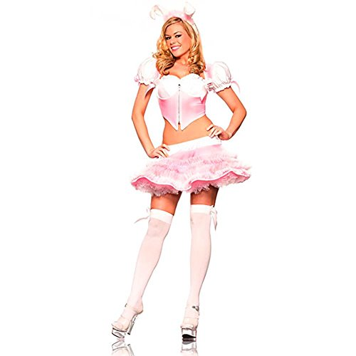 Sexy Pink Bunny Adult Costume (Size: Medium 8-12)