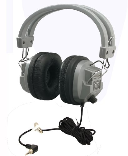 Hamilton Electronics Schoolmate Deluxe Stere/Mono Headphone With 1/8 Inches Plug And 1/4 Inches Adapter, Volume