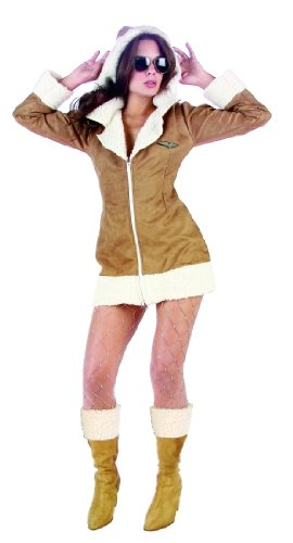 Adult Sexy Aviator Costume Size Large (8-10)