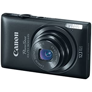 $150 Canon PowerShot ELPH 300 HS 12.1 MP Digital Camera (Black)