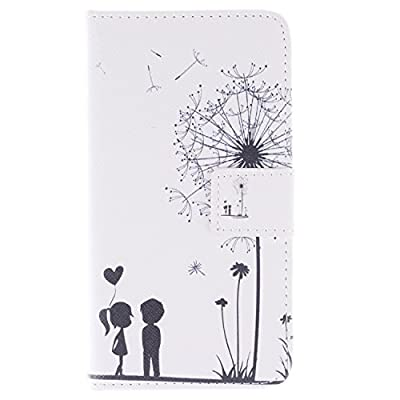 Galaxy S6 Case, ISAKEN Colorful Pattern Pu Leather Magnetic Flip Wallet Case, Pattern Print Printing Drawing Cell Phone Case Mobile Cover Protect Skin Stand Case Cover For Samsung Galaxy S6 G920 (2015 Version)