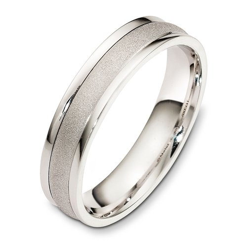 Sterling Silver, Sand Blasted 5MM Wedding Band (sz 11.5)
