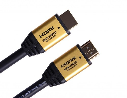 Forspark Prime High Speed Hdmi Cable With Ethernet (5 Feet/1.5 Meters),Metal Gold Case,A To D Type, Hdmi Micro Connector,Support Hdmi Ethernet,Audio Return Channel,3D,4K,15.2Gbps, Good For Connecting T-Mobile, Smart Phone To Led Tv, Hd Lcd, Also Compatibl