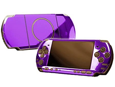 PlayStation Portable 3000 (PSP-3000) Skin - NEW - PURPLE CHROME MIRROR system skins faceplate decal mod