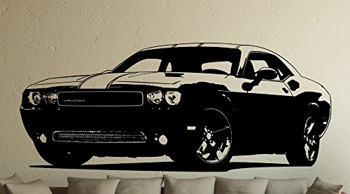 wall-sticker-fast-and-furious-6-dodge-challenger-vinyl-black-small