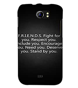 PrintDhaba Quote D-2877 Back Case Cover for MICROMAX A110Q CANVAS 2 PLUS (Multi-Coloured)