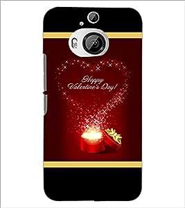 PrintDhaba Valentine Design D-2505 Back Case Cover for HTC ONE M9 PLUS (Multi-Coloured)