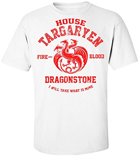 Game of Thrones House Targaryen Fire and Blood Dragonstone I Will Take What is Mine Men's T-Shirt XX-Large