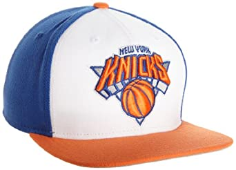 NBA Flat Brim Snapback NG46Z, New York Knicks, Adjustable white & blue