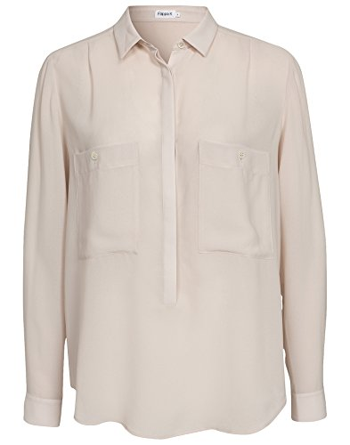 Filippa K Damen Poly Crepe Pull On Hemd / Hemdbluse Blush Small