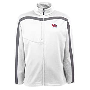 Houston Cougars Jacket - NCAA Antigua Mens Viper Performance Jacket White by Antigua