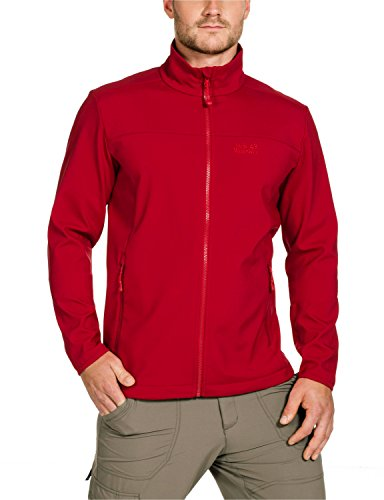 Jack Wolfskin, Giacca Softshell Uomo Element, Rosso (Indian Red), S
