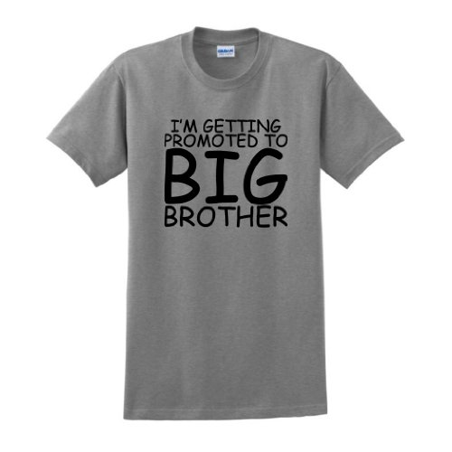 Promoted To Big Brother T-Shirt Large Sport Grey front-903503