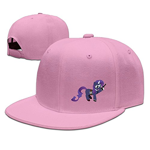 Show Time Pony Rari Spy Unisex Running Hat Snapback Flat Bill Hat Pink