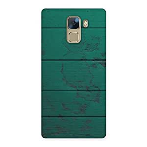 Green Wood Texture Print Back Case Cover for Huawei Honor 7