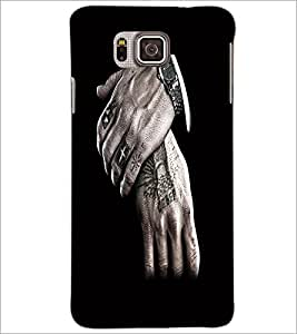 PrintDhaba Hands D-2193 Back Case Cover for SAMSUNG GALAXY ALPHA (Multi-Coloured)