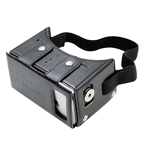 """Homder Virtual Reality Headset DIY 3D VR Glasses PU Leather Google Cardboard Kit for 3D Movies and Games Compatible with iPhone 6 6s Plus Samsung S7 Edge and Other 4.7-5.5"""" Smartphones"""