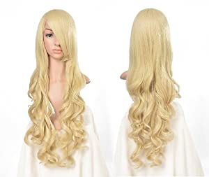 "32"" 80cm Spiral Curly Cosplay Wig--Light Blonde"