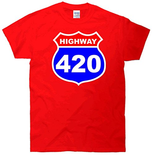 Highway 420 Sign Weed T-Shirt