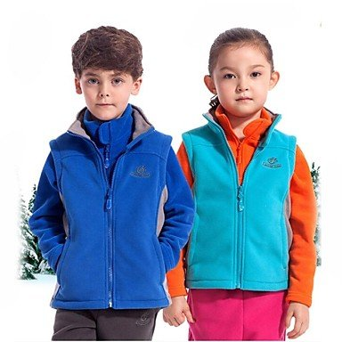 Man Friday im Freien Kinderwinter Polyester multi Farben winddichte Fleeceweste bestellen