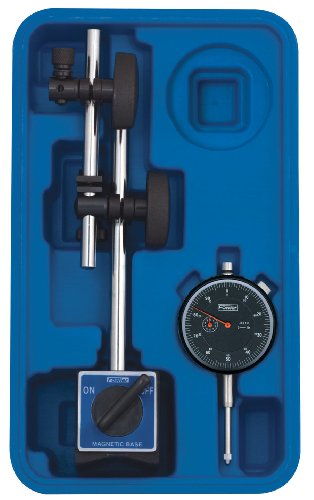 Fowler Full Warranty 52-520-199-0 Magnetic Base and Black Face Indicator With Fine Adjust, 0-1