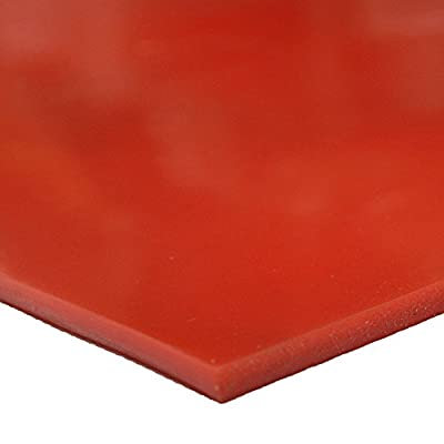 "Silicone - Commercial Grade Red/Orange - 60A - Rubber Sheets & Rubber Rolls - 1/4"" Thick"