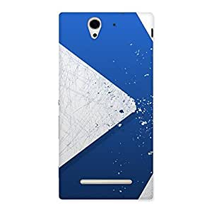 Gorgeous Blue Paint Work Job Back Case Cover for Sony Xperia C3