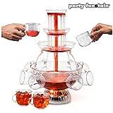 Fontana di bevande e cocktail per feste con luce con bicchieri - Idea regalo