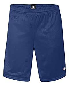 Champion 3.7 oz. Long Mesh Shorts with Pockets M ATHLETIC ROYAL