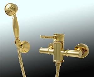 Sanlingo Nostalgie Retro Dusche Duschset Armatur Einhebel Gold Luis  BaumarktÜberprüfung und weitere Informationen