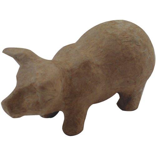 """Paper Mache Figurine 4.5""""-Pig"""