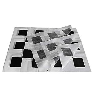 Semoic 4Pcs Fabrics Calibration Cloth for 360 Degree Surround Bird View Panoramic DVR System (Color: black&white)