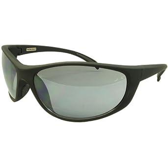 Foster Grant Risk Men's Sport Sunglasses Black Rubber Frame Smoke Lenses