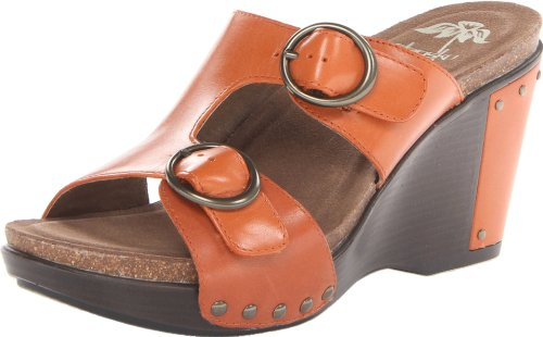 Dansko Women'S Fern Wedge Sandal,Burnt Orange Antique,37 Eu/6.5-7 M Us front-796800