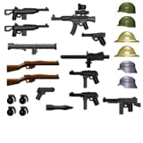 BrickArms World War II Weapon Pack (24 Pieces) - LEGO Compatible Weapons by BrickArms