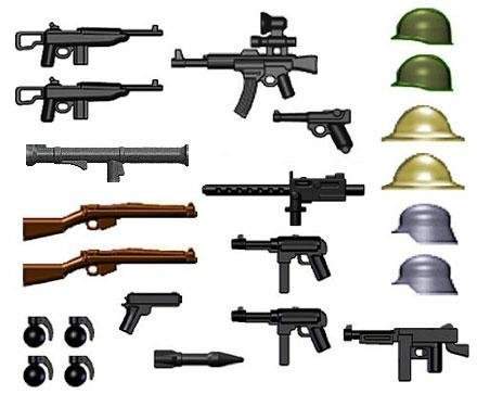 BrickArms-World-War-II-Weapon-Pack-24-Pieces-LEGO-Compatible-Weapons-Toy