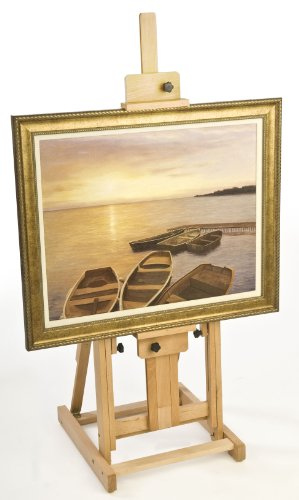 Fully Adjustable Beech Wood Studio Easel, Free-Standing, With Non-Skid Rubber Feet