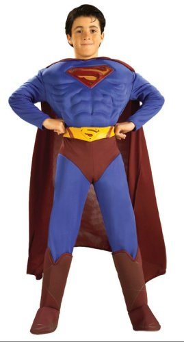 Superman Deluxe Muscle Large Kids Boys Costume